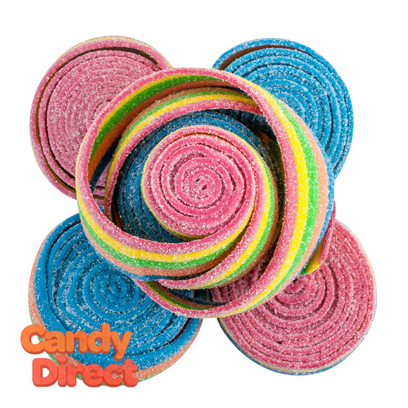 Clever Candy Rainbow Sour Rolled Belts - 6.6lbs