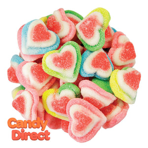 Clever Candy Rainbow Triple Layer Hearts - 6.6lbs