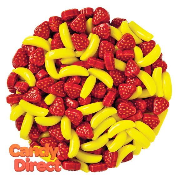 Clever Candy Silly Strawberry And Banana Dextrose Candy - 10lbs