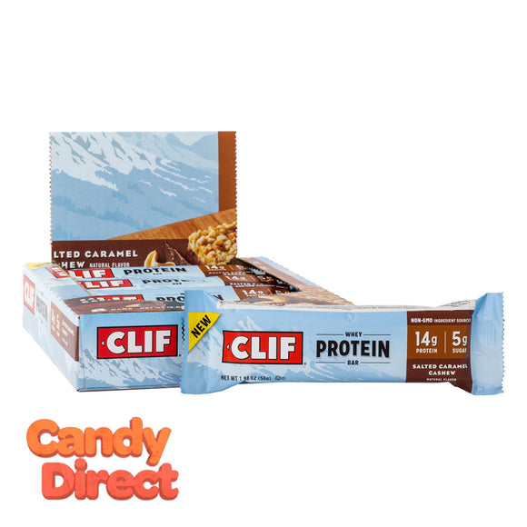 Clif Bars Salted Caramel Cashew Whey Protein 1.98oz - 8ct