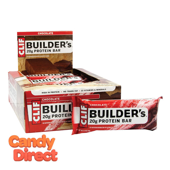 Clif Builder's Bars Chocolate 2.4oz - 12ct