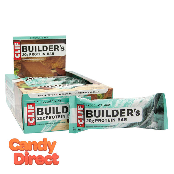 Clif Builder's Bars Chocolate Mint 2.4oz - 12ct