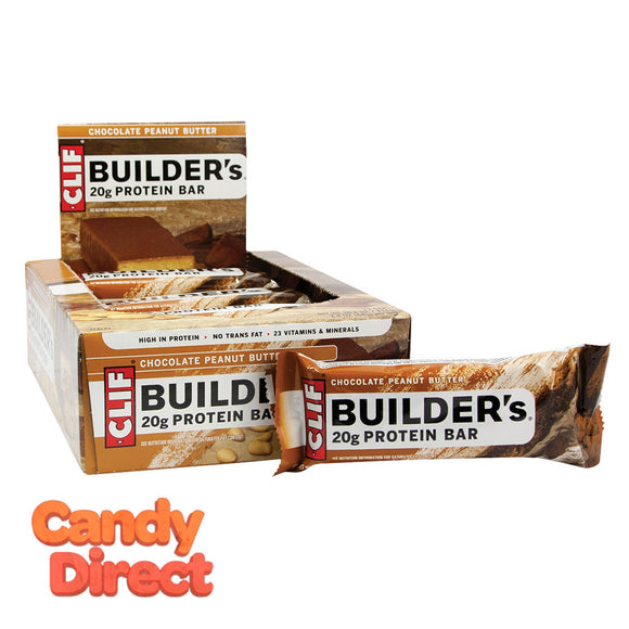 Clif Builder's Bars Chocolate Peanut Butter 2.4oz - 12ct