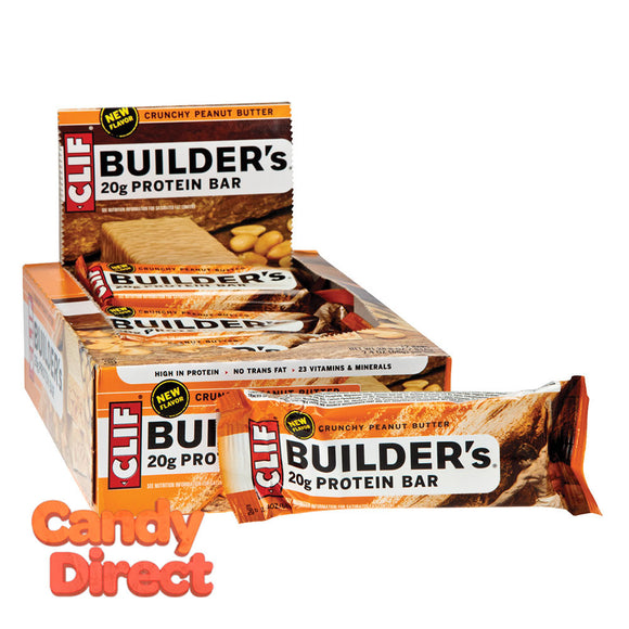 Clif Builder's Bars Crunchy Peanut Butter 2.4oz - 12ct