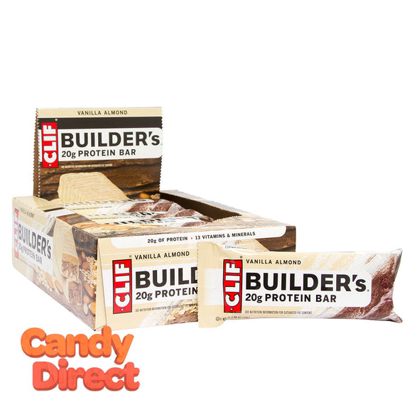 Clif Builder's Bars Vanilla Almond 2.4oz - 12ct