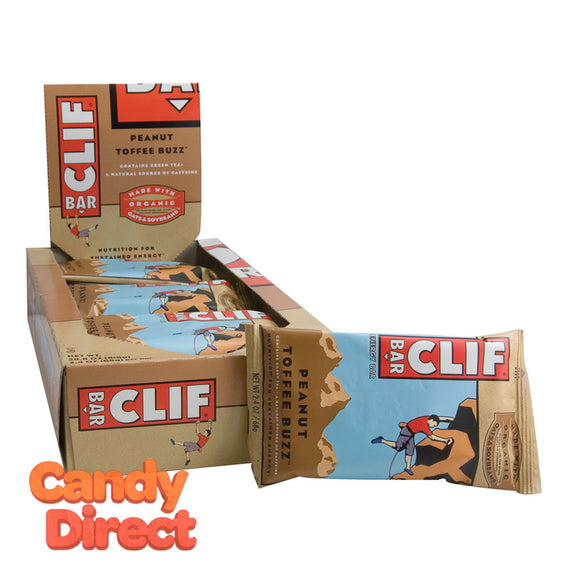 Clif Peanut Toffee Buzz Bar 2.4oz Bar - 12ct