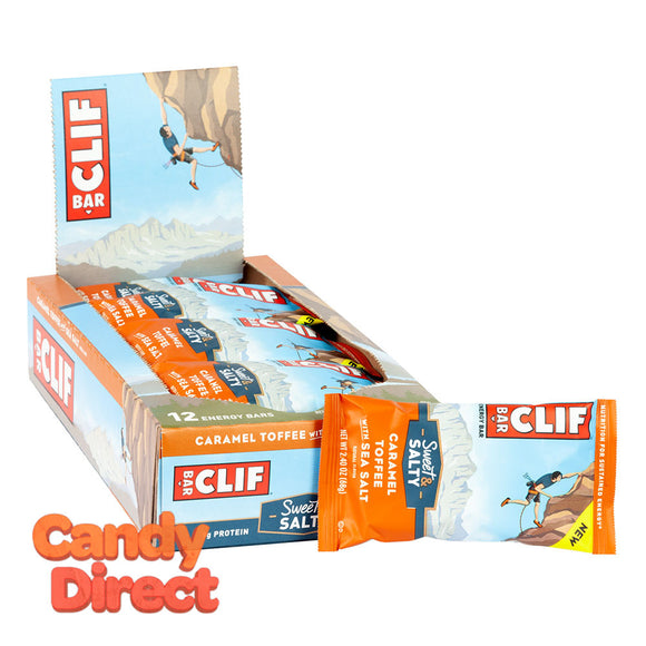 Clif Sweet & Salty Caramel Toffee With Sea Salt Bar 2.4oz - 12ct