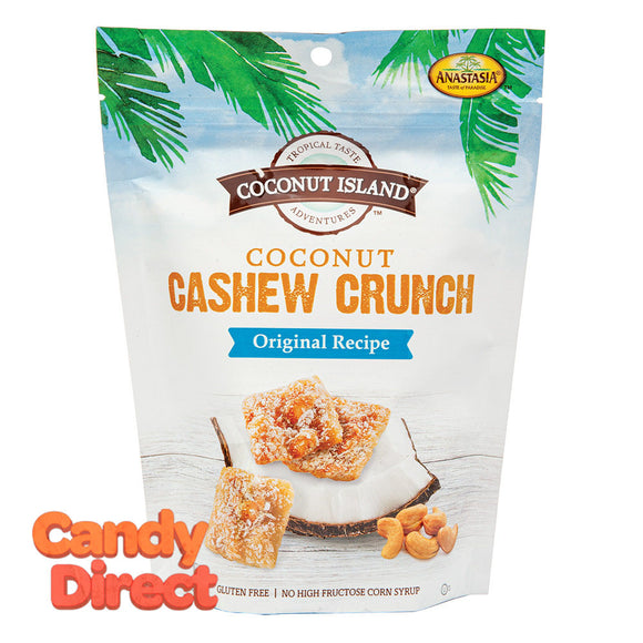 Coconut Island Anastasia Coconut Cashew Crunch Original Recipe 5oz Pouch - 6ct