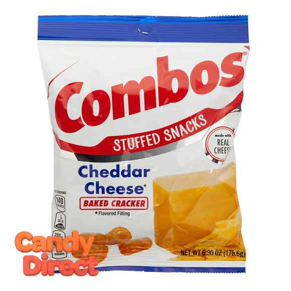 Combos Baked Cracker Cheddar Cheese6.3oz Peg Bag - 12ct