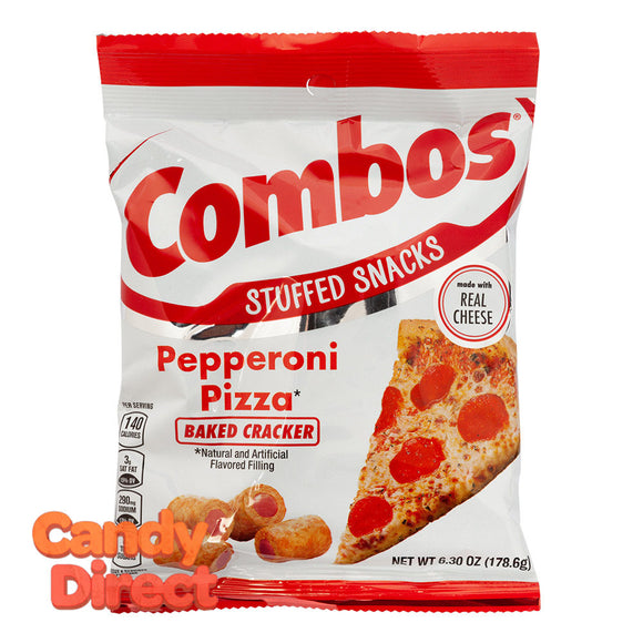 Combos Pizza Pepperoni Baked Cracker 6.3oz Peg Bag - 12ct