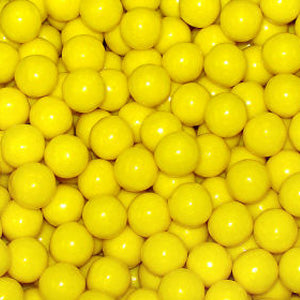 Yellow Bubble Gum Balls - 2lb