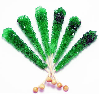 Lime Rock Candy Sticks - Unwrapped 120ct