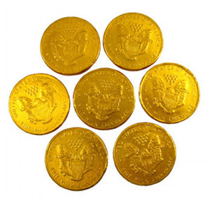 Gold American Eagle Chocolate Foil Coins - 5lb
