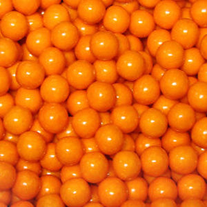 Orange Bubble Gum Balls - 2lb