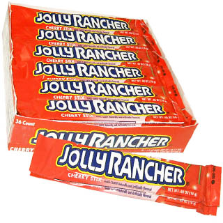 Cherry Jolly Rancher Sticks - 36ct