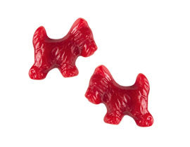 Scottie Dogs Red Licorice - 5lb Gimbals