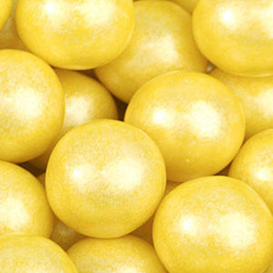 Yellow Shimmer Bubble Gum Balls - 2lb