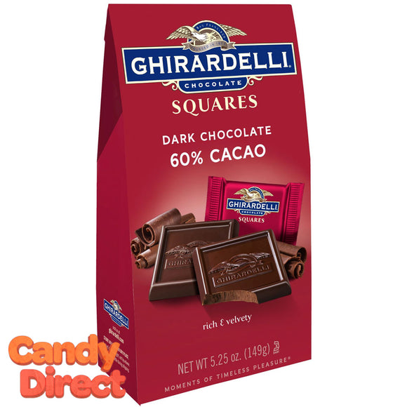 Dark Chocolate 60% Cacao Ghirardelli Squares - 6ct Bags