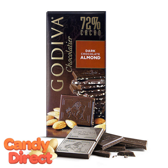 Dark Chocolate Almond Godiva Tablet Bars - 10ct