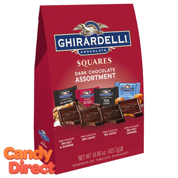 Dark Chocolate Assorted Ghirardelli Squares - 6ct XL Bags
