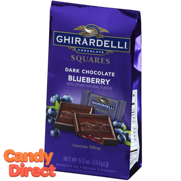 Dark Chocolate Blueberry Ghirardelli Squares - 6ct Bags