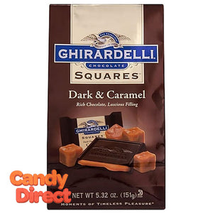 Dark Chocolate and Caramel Ghirardelli Squares - 6ct Bags