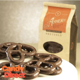 Dark Chocolate Covered Pretzels - 12ct Asher's Coffee Bags