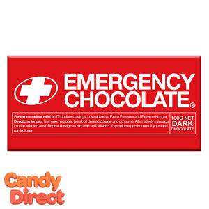 Dark Chocolate Emergency Bars - 10ct