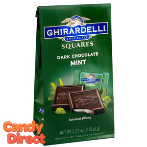 Dark Chocolate with Mint Ghirardelli Squares - 6ct