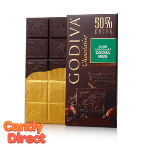 Dark Chocolate Nibs Godiva Tablet Bars - 10ct
