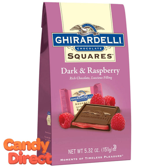 Dark Chocolate Raspberry Ghirardelli Squares - 6ct Bags