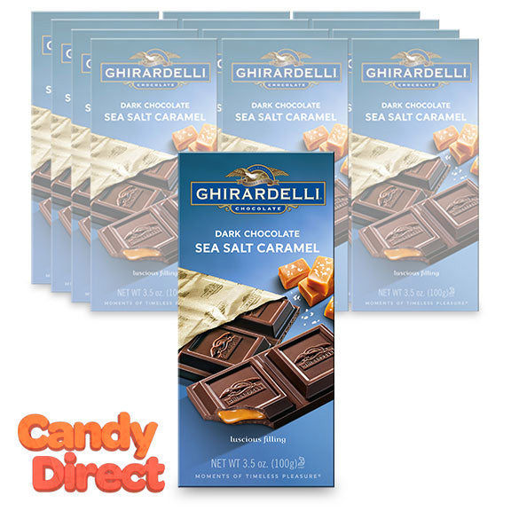 Dark Chocolate Sea Salt Caramel Ghirardelli Bars - 12ct