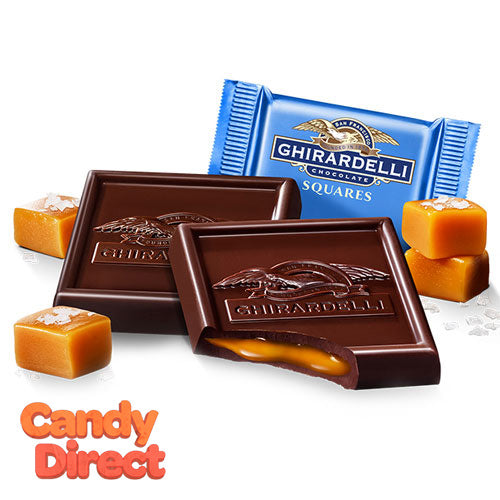 Dark Chocolate Sea Salt Caramel Ghirardelli Squares Caddy - 50ct