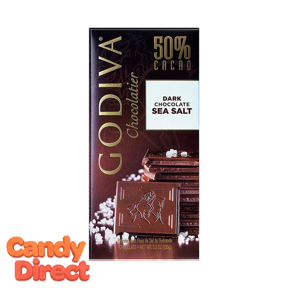 Dark Chocolate Sea Salt Godiva Tablet Bars - 10ct