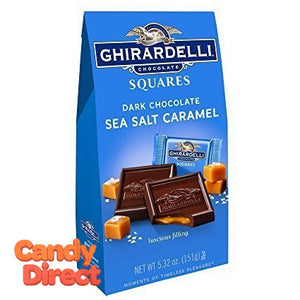 Dark and Sea Salt Caramel Ghirardelli Squares - 6ct Bags