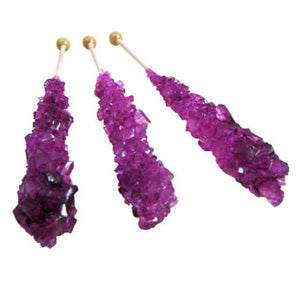 Berry Blue Rock Candy Sticks - Unwrapped 120ct