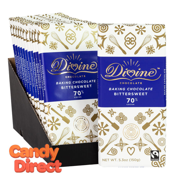 Divine Baking Bars 70% Bittersweet 5.3oz - 12ct