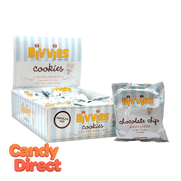 Divvies Cookie Chocolate Chip 2 Pc 2oz - 9ct