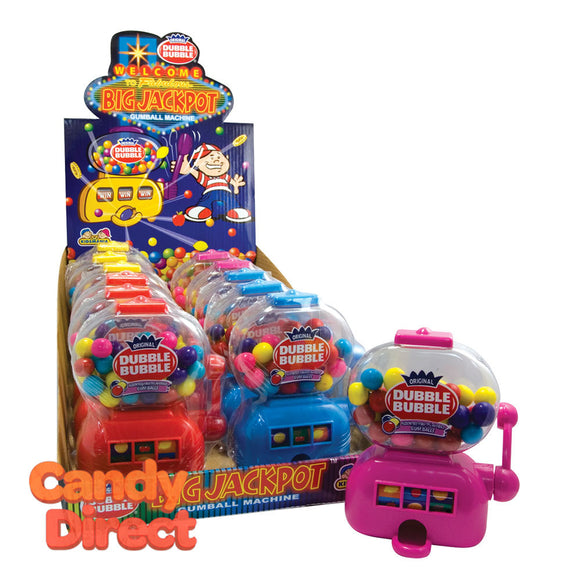 Dubble Bubble Big Jackpot Machine Gumball - 12ct