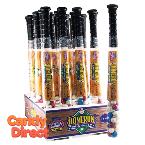 Dubble Bubble With Gumballs Homerun Baseball Bat 6.6oz - 24ct