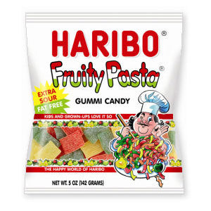 Haribo Sour Fruity Pasta - 5oz