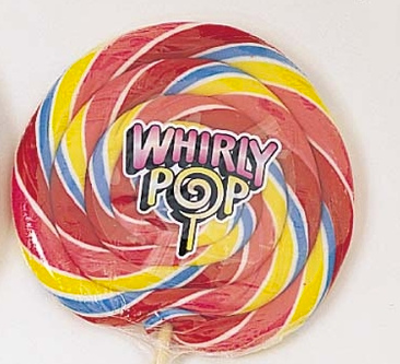 Rainbow Giant Whirly Pops - 10ct