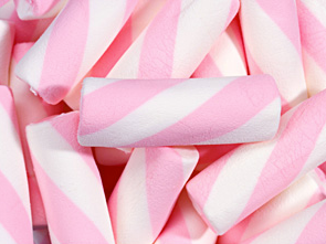 Puffy Poles Marshmallow Twists Pink - 2.2lb