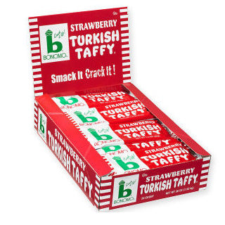 Strawberry Turkish Taffy by Bonomo - 24ct