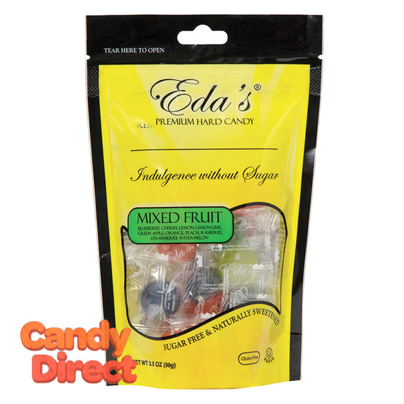 Eda's Mixed Fruit Sugarfree 3.5oz Pouch - 12ct