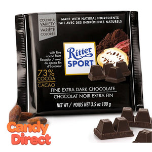 Extra Fine Dark Chocolate 73% Ritter Sport - 9ct