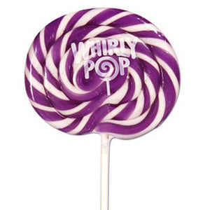 Purple & White Whirly Pops - 24ct