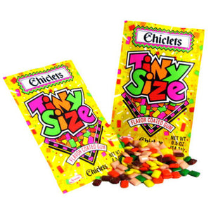 Tiny Size Chiclets Fruit Flavor Gum - 20ct