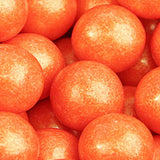 Orange Shimmer Bubble Gum Balls - 2lb