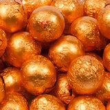 Orange Milk Chocolate Balls - Foil 10lb